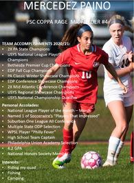 Mercedez Paino's Women's Soccer Recruiting Profile
