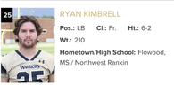 Ryan Kimbrell's Football Recruiting Profile