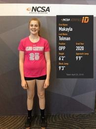Makayla Tolman's Women's Volleyball Recruiting Profile