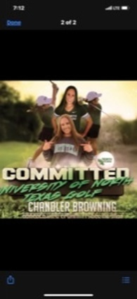 Chandler Browning's Women's Golf Recruiting Profile