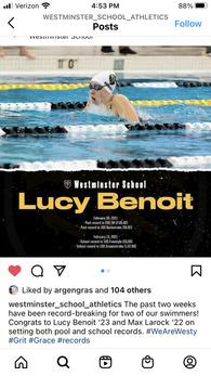 Lucy Benoit's Women's Swimming Recruiting Profile