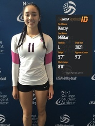 Kenzy Militar's Women's Volleyball Recruiting Profile