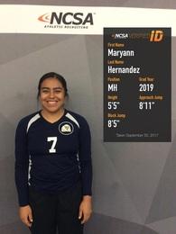 Maryann Hernandez's Women's Volleyball Recruiting Profile