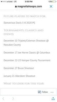 Dantavian Davis's Men's Basketball Recruiting Profile