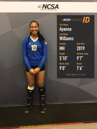 Ayanna Williams's Women's Volleyball Recruiting Profile