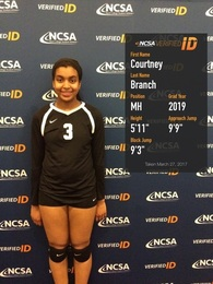 Courtney Branch's Women's Volleyball Recruiting Profile
