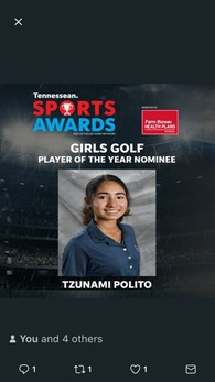 Tzunami Polito's Women's Golf Recruiting Profile