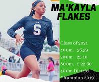 Makayla Flakes's Women's Track Recruiting Profile