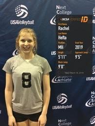 Rachel Hefta's Women's Volleyball Recruiting Profile