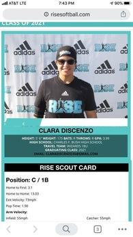 Clara Discenzo's Softball Recruiting Profile