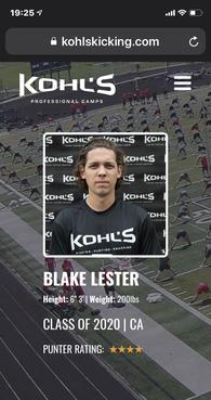 Blake Lester's Football Recruiting Profile