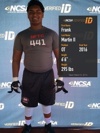 Frank Martin II's Football Recruiting Profile