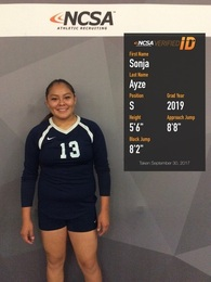Sonja Ayze's Women's Volleyball Recruiting Profile