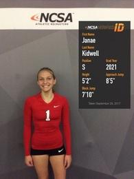 Janae Kidwell's Women's Volleyball Recruiting Profile