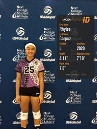 Rhylee Corpuz's Women's Volleyball Recruiting Profile