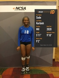 Sade Korbieh's Women's Volleyball Recruiting Profile