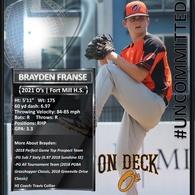 Brayden Franse's Baseball Recruiting Profile