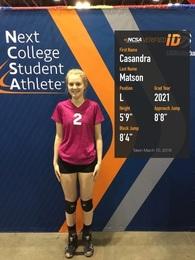Casandra Matson's Women's Volleyball Recruiting Profile