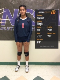 Mallika Singh's Women's Volleyball Recruiting Profile