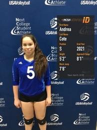 Andrea Cote's Women's Volleyball Recruiting Profile