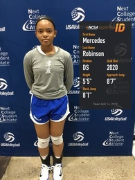 Mercedes Robinson's Women's Volleyball Recruiting Profile