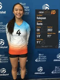Kalayaan Basto's Women's Volleyball Recruiting Profile