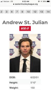 Andrew St. Julian's Men's Ice Hockey Recruiting Profile
