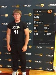 Kody Krusinski's Football Recruiting Profile