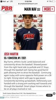 Josh Martin's Baseball Recruiting Profile