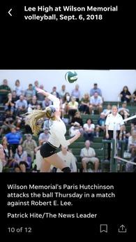 Paris Hutchinson's Women's Volleyball Recruiting Profile