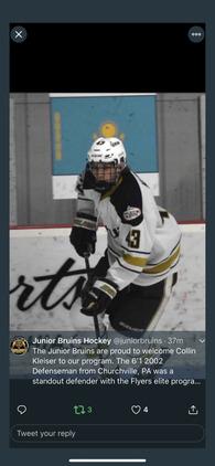 Collin Kleiser's Men's Ice Hockey Recruiting Profile