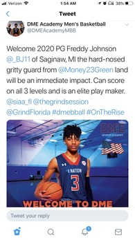 Freddy Johnson III's Men's Basketball Recruiting Profile