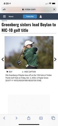 Ella Greenberg's Women's Golf Recruiting Profile