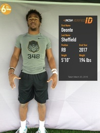 Deonte' Sheffield's Football Recruiting Profile