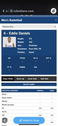 Edward Daniels's Men's Basketball Recruiting Profile