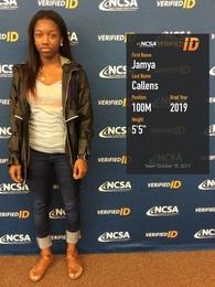 Jamya Callens's Women's Track Recruiting Profile