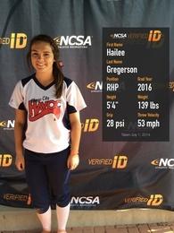 Hailee Gregerson's Softball Recruiting Profile