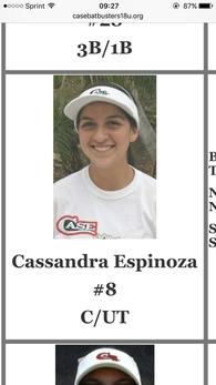 Cassandra Espinoza's Softball Recruiting Profile