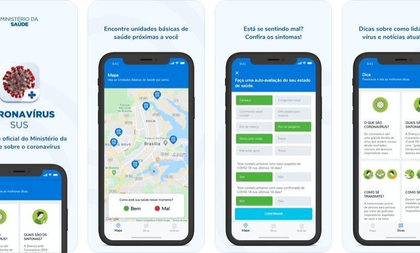 Ministério da Saúde e SUS lançam app com informações sobre coronavírus