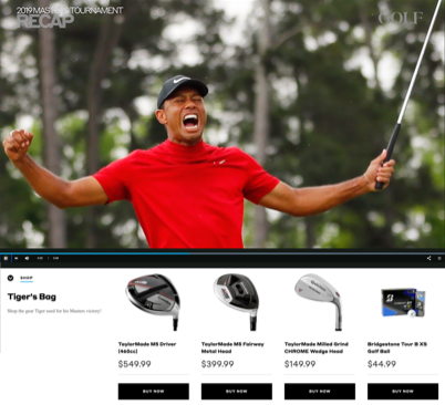 In-Context Shopping Tiger Woods Video