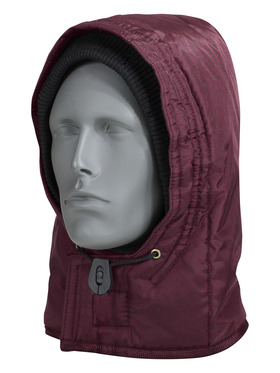 0081R QUILTED HOOD MAROON