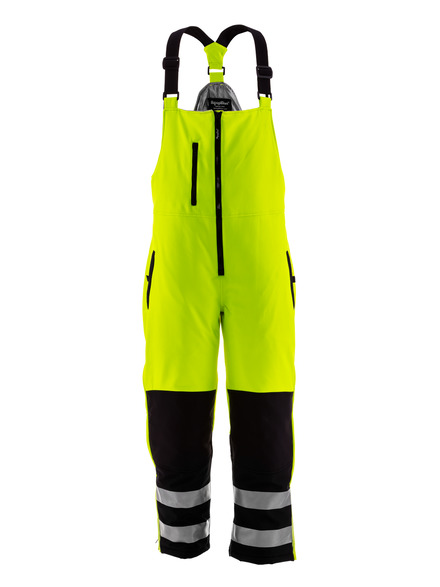 HiVis insulated Softshell High Bib Overalls