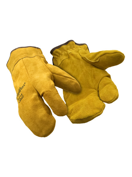 Three-Finger Leather Mitt