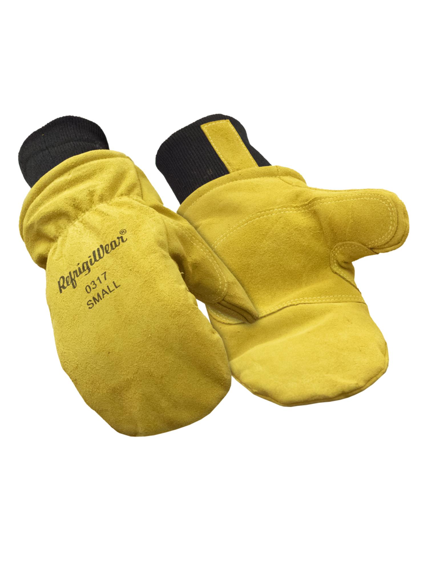 RefrigiWear Warm Fleece Lined Fiberfill Insulated Cowhide Leather Work Gloves