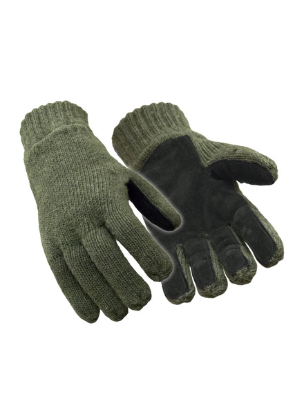 Insulated Wool Leather Palm Glove