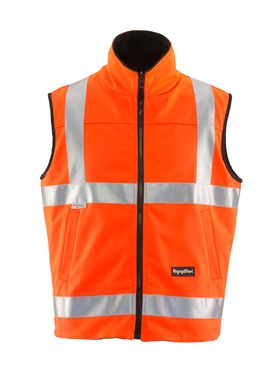 HiVis Reversible Softshell Vest (H Pattern on Back)