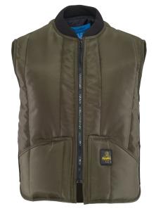 Warm brown zip up vest with pockets