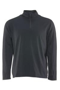 Thin black shirt with quarter zip