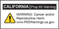 California Prop. 65 Warning