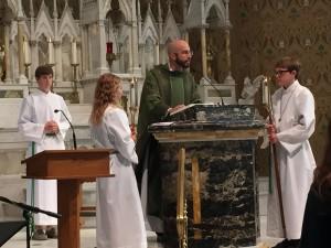 Fr. Matt at Roanoke Catholic School Mass